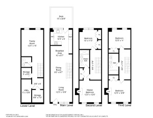 Park Slope Townhouse Floorplans